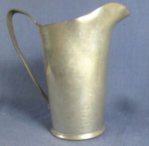 "Periods & Styles Official Website Original Wallace Pewter Large 9"" Pitcher Vintage P9289 Sturdy Construction"