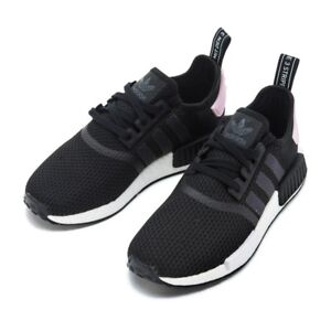 ADIDAS NMD R1 SHOES CORE BLACK WHITE PINK B37649 US WOMENS SZ 5-11 ... b9e4aecae8