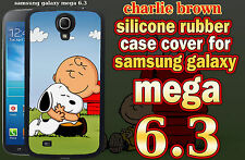 Samsung Galaxy Mega 6.3 Case Cover Peanuts Snoopy Charlie Brown Love Hug Design