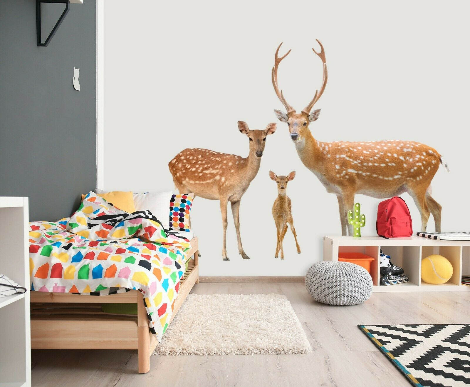 3D Sika Deer O129 Animal Wallpaper Mural Poster Wall Stickers Decal Ange