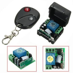 12V-DC-1CH-Relay-Receiver-RF-Transmitter-433Mhz-Wireless-Remote-Control-Switch