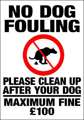 Sign All Sizes /& Materials Dog Fouling // Please clean it up Sticker