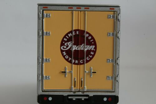 Indian Motorcycle Delivery Box Truck International 1:64 Scale Diecast Model
