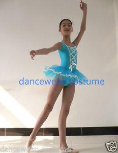 Girls-Kids-Princess-Ballet-Tight-Tutu-Body-Leotard-Outfit-Skirt-Dance-Dress-3-8Y