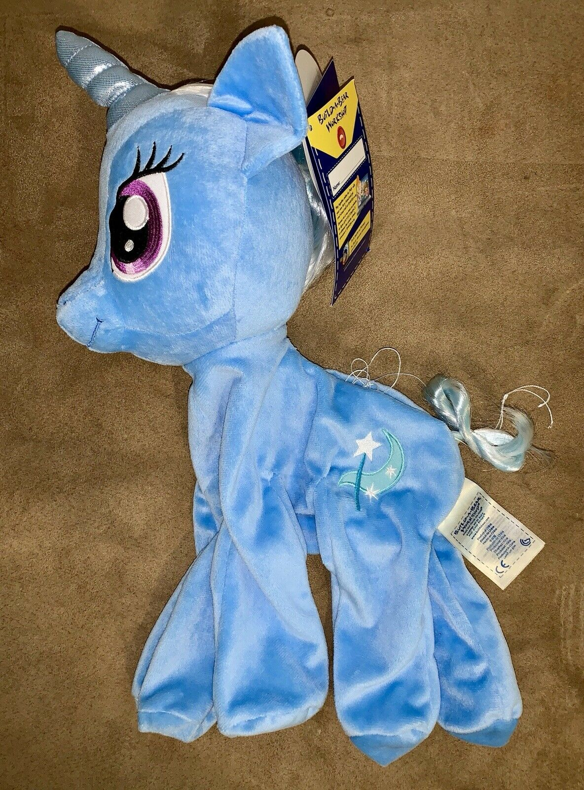 NWT UNSTUFFED BAB Build A Bear My Little Pony Trixie Lulamoon SOLD OUT