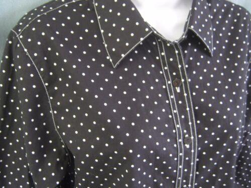 Foxcroft Fit 8 Dot Free 100 Size B Polka Shaped Cotton Wrinkle amp;w Shirt xSSnFHqB