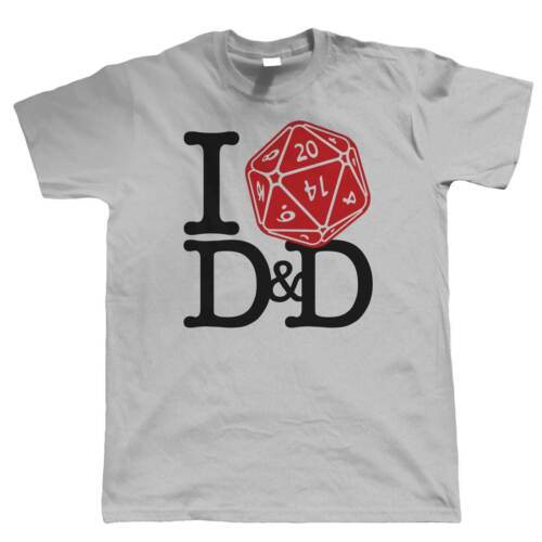 Hobbies Geek DND Dungeons Dragons Gift Him Dad I Love D/&D Mens T-Shirt