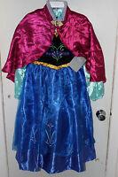 2014 Disney Store Frozen Snow Queen Anna Costume Dress Girls Size 7/8