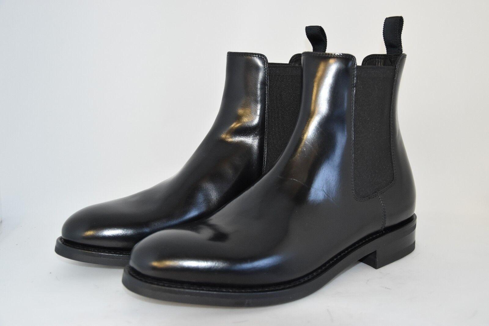 MEN-7eu-8usa-CHELSEA BOOT-STIVALE-SHINE BLACK CALF- VITELLO black-VIBRAM SOLE
