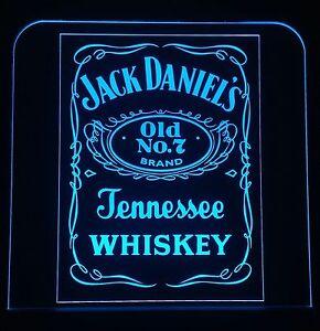 Jack Daniels LED signo, edgelit, Bar, MANCAVE, LED, Control Remoto, luz, Regalos  </span>