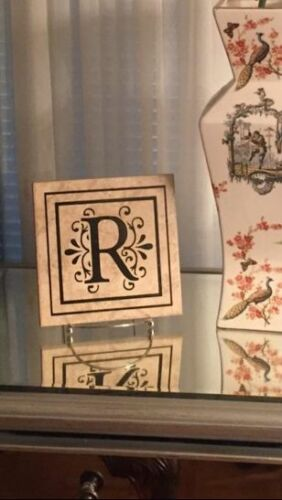 Beautiful Tile /& Monogram /& Stand Decal Sticker Vinyl Art Lettering 6.5x6.5