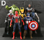 Action-Figure-Marvel-Legends-Avengers-Captain-America-Spider-Man-Iron-Man-Set thumbnail 12
