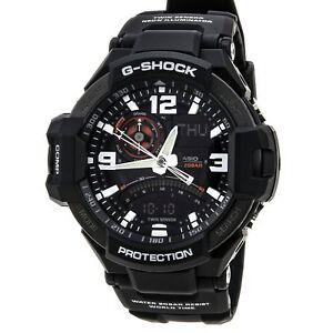 Casio G-Shock Men's GA1000-1A G-Aviation Twin Sensor Black 52mm Watch