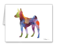 Basenji Note Cards With Envelopes
