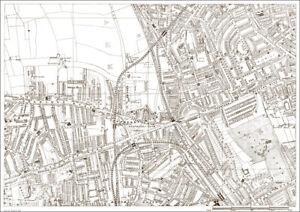 Notting Hill Shepherds Bush London 1888 map 20