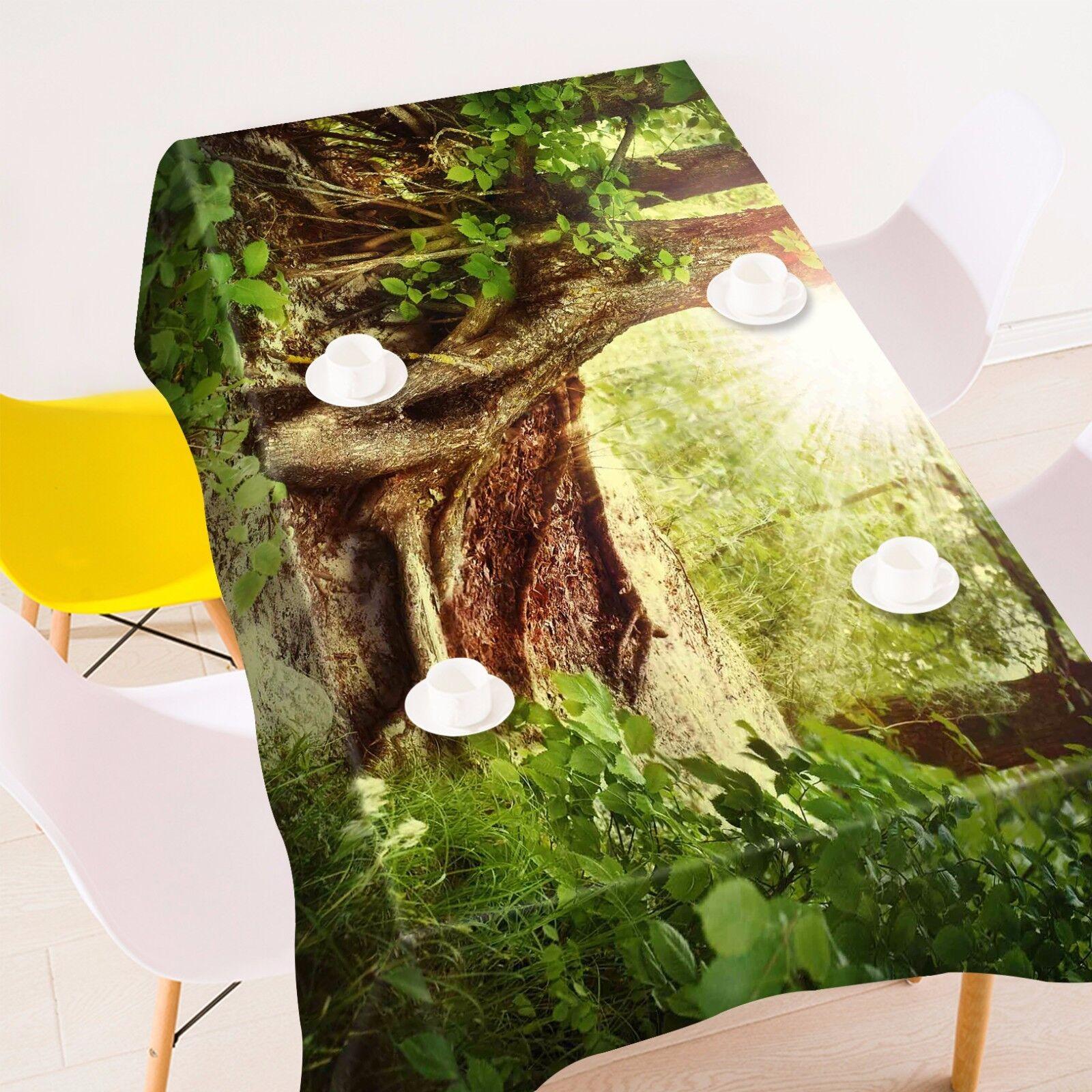 3D Arbre Racine Nappe Table Cover Cloth fête d'anniversaire AJ papier peint Royaume-Uni Citron