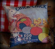 Easter antique vintage spring egg dye spring chicken rabbit bunny pillow old adv