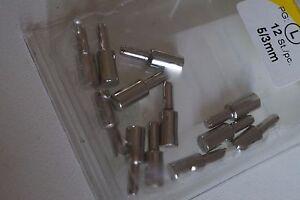 40 Bodentraeger Metall mit Zapfen 5 mm vernickelt