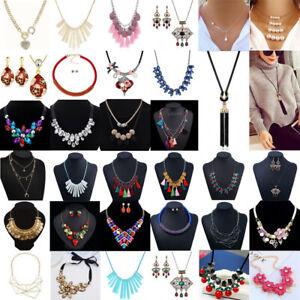 Fashion-Jewelry-Rhinestone-Crystal-Choker-Chunky-Statement-Bib-Pendant-Necklace