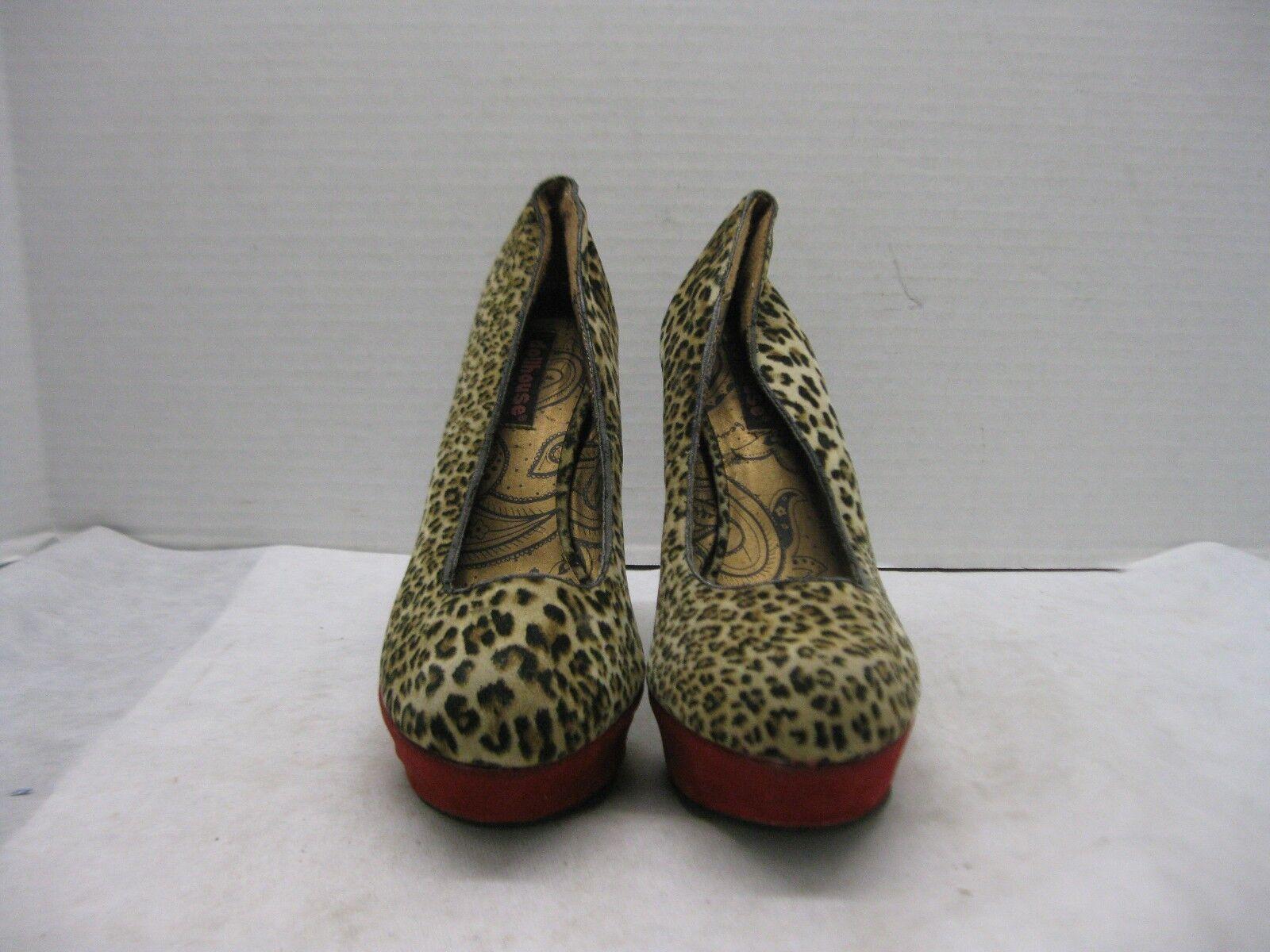 dollhouse dollhouse dollhouse femmes est imprimé léopard taille style talons haut talon aiguille 7,5 0a7f0a
