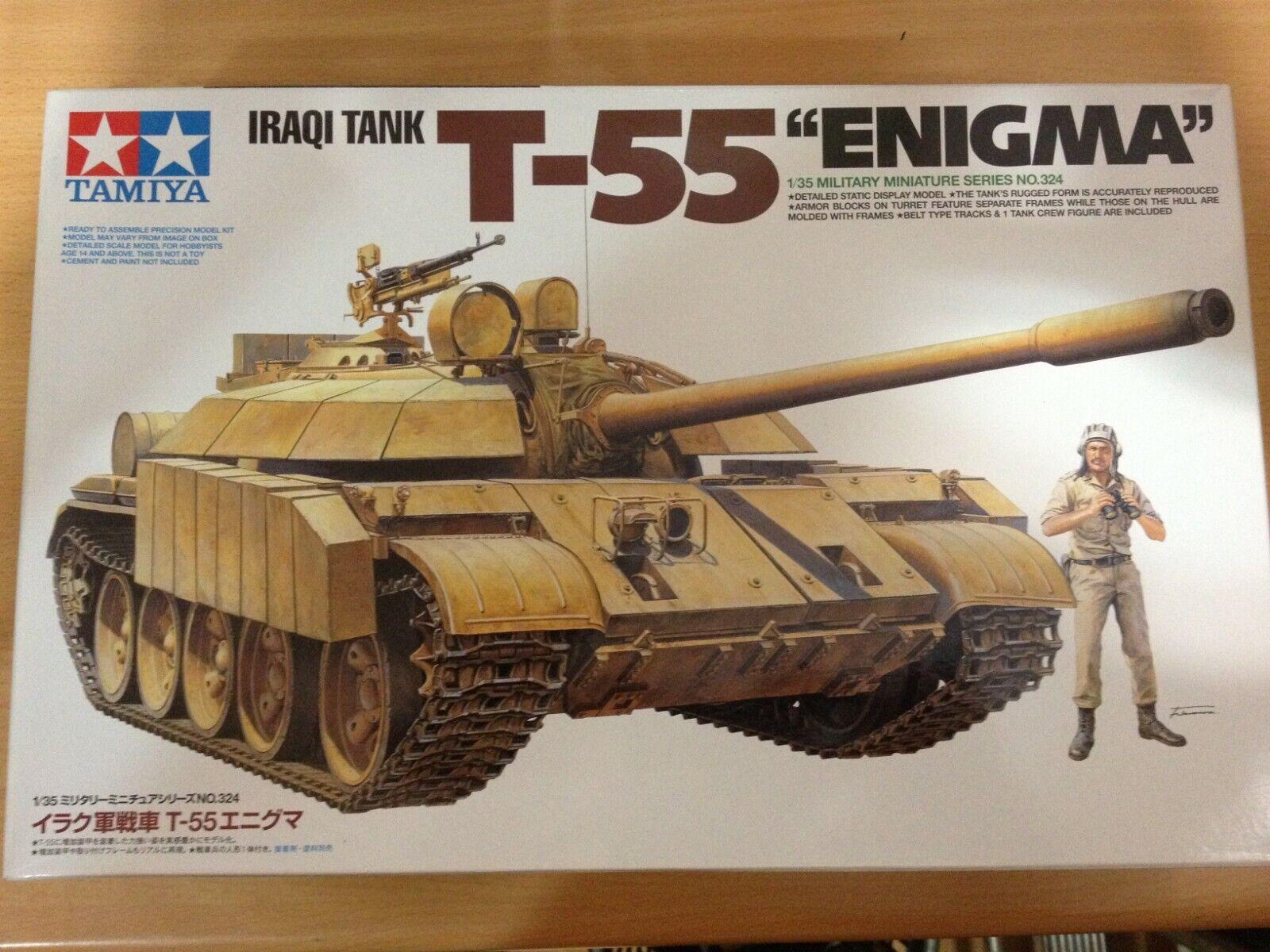 Tamiya Maqueta,escala 1 35,IRAQI TANK T-55  ENIGMA ,ref.35324