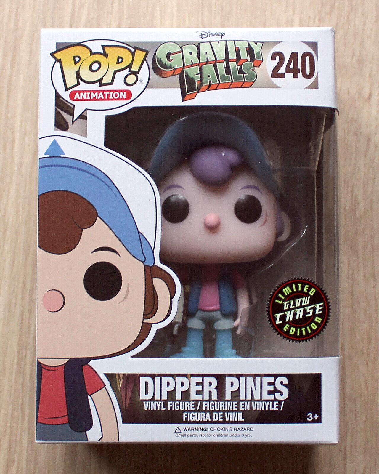 Funko Pop Gravity Falls Dipper Pines GITD CHASE + Free Protector