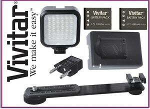 Led-Video-Licht-mit-Netzteil-fuer-Sony-HDR-PJ340-HDR-PJ540-HDR-CX330