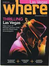 WHERE Las Vegas Magazine MICHAEL JACKSON 'ONE' Cirque du Soleil Mint Issue!