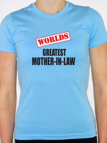 Nouveauté themed T-shirt Femme Mondes plus grand mère en droit-famille