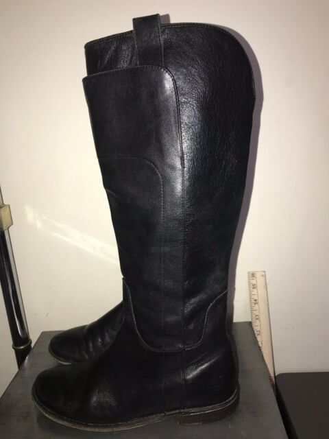 9eda7f629be FRYE 77535 Black Paige Womens US 6.5 M Tall Leather Riding Boot Retail $388