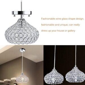 Elegant Chandelier Crystal Light Ceiling Flush Mount Lamp Modern