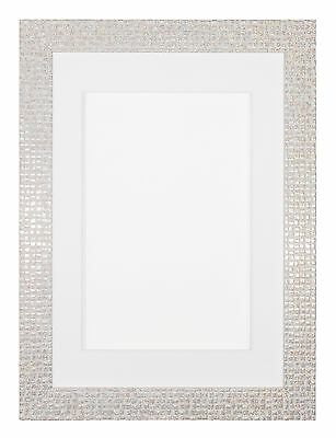 Flat Bright Mirror effect Mosaic Picture Bespoke Mount Frame A4 A3 All Sizes