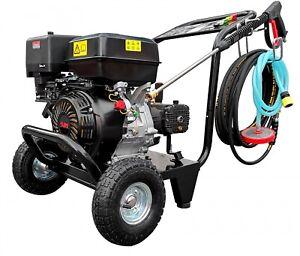 DeTec. Hochdruckreiniger 13 PS Benzin Motor 250 bar + 10 Meter Hochdruckschlauch