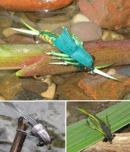 3 pezzi pietra volare stoneflies 3 pattern per la selezione Gilchrist volare