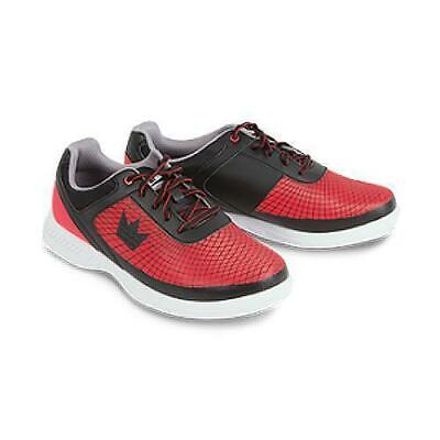 Brunswick Mens Frenzy Bowling Shoes Black//Red Wide Width