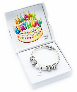 Image Is Loading 70th Birthday Cream Leather Charm Bracelet For Women