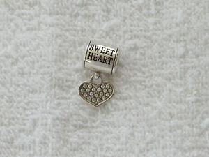 BRIGHTON-034-STORIES-OF-LOVE-034-SILVER-PLATED-CLEAR-CRYSTALS-DANGLE-CHARM-NWOT