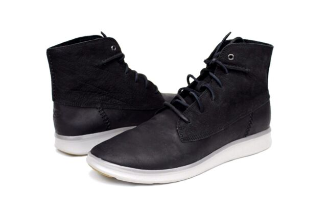 46fc5236946 UGG Lamont Black Mens Leather BOOTS High Top Sneaker Size 12 US