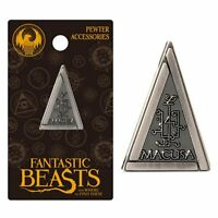 Harry Potter Macusa Triangle Pewter Lapel Pin Fantastic Beasts Charm