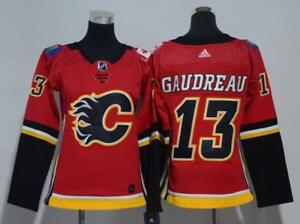 b2bc5ee6c Image is loading Women-039-s-Calgary-Flames-Johnny-Gaudreau-red-