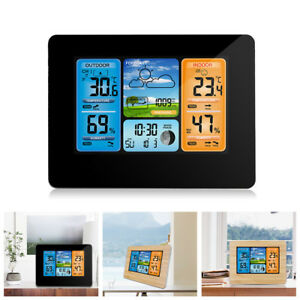 Wireless-LCD-Color-Weather-Station-Hygrometer-Thermometer-Clock-W-Outdoor-Sensor
