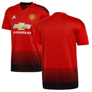 99a5c7a6ce9 Image is loading adidas-Manchester-United-2018-2019-Home-Soccer-Jersey-
