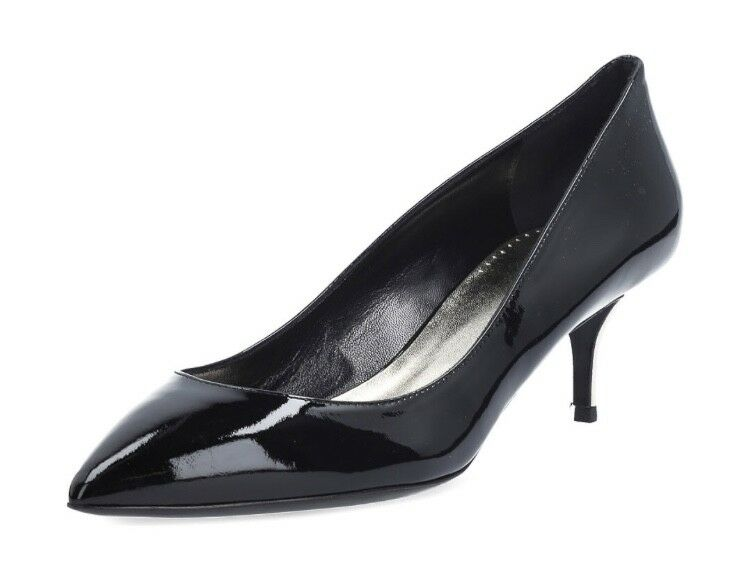 La Perla Chaussures à Talon Escarpins Cuir Noir Doré Gr. 36-41 Neuf Box