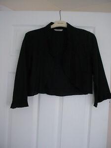 Black bolero jacket size 14