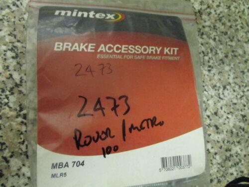ROVER METRO Kit di accessori del Freno 100 Mintex mba704 ottimo prezzo!