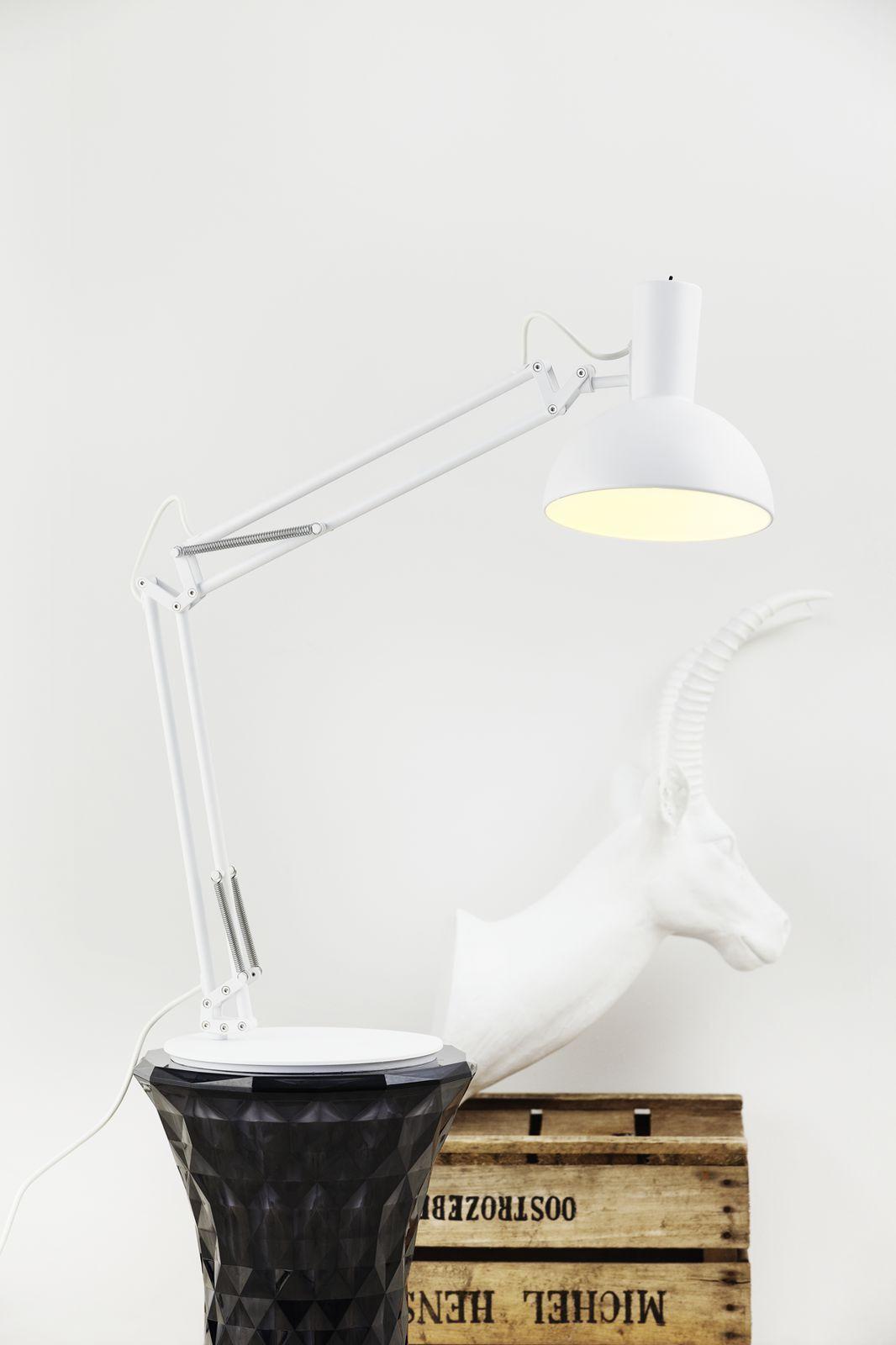Designer Lampe de table de serrage éclairage mural déprimés Nordlux Nordlux déprimés e27 blanc h52cm 3in1 4f8215