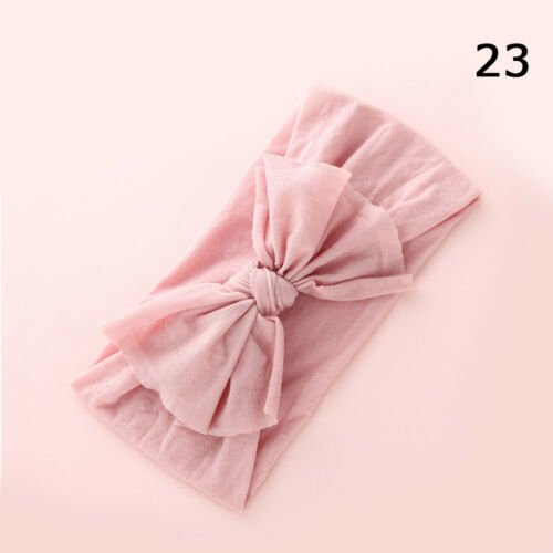 New Baby Girls Toddler Sweet Bow Hairband Headband Stretch Turban Knot Head Wrap