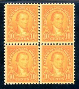 USAstamps-Unused-VF-US-Monroe-Flat-Press-Block-Scott-562-OG-MNH