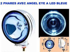 QUAD-LOOK-ANGEL-EYE-2-SUPER-PHARES-TYPE-LIGHTFORCE-HELLA-OSCAR-DIAM-16CM