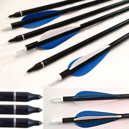 81.3cm Glasfaser pfeile bogenschießen jagd stahl feld tipps zum aufschrauben//